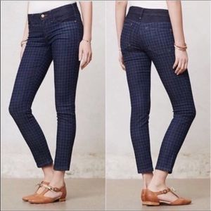 Anthro Pilcro & the Letterpress Houndstooth Jeans